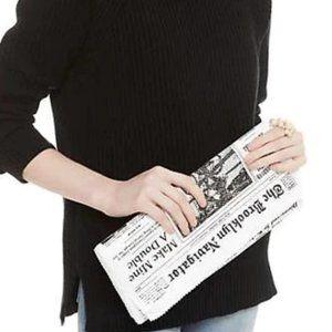 kate spade Glitzy Ritzy Newspaper Clutch nwt